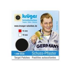 Schotpleister 15mm Zwart